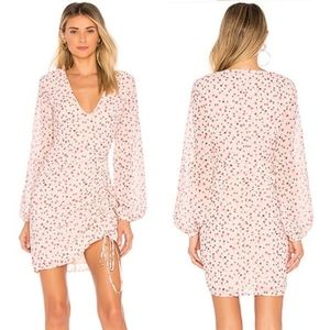NWT L'Academie Pearl Pink Floral Mini Dress